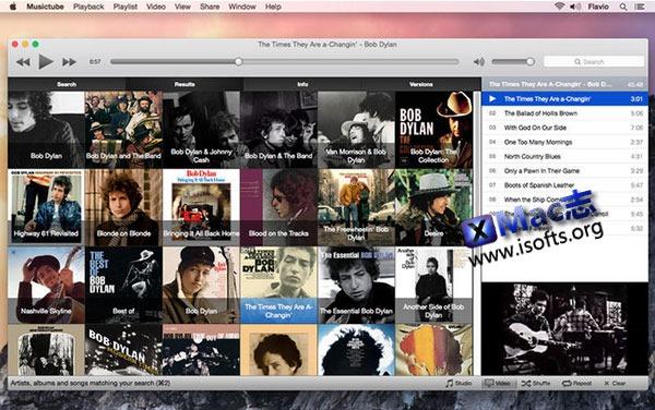 [Mac] Youtube音乐资源播放器 :  Musictube