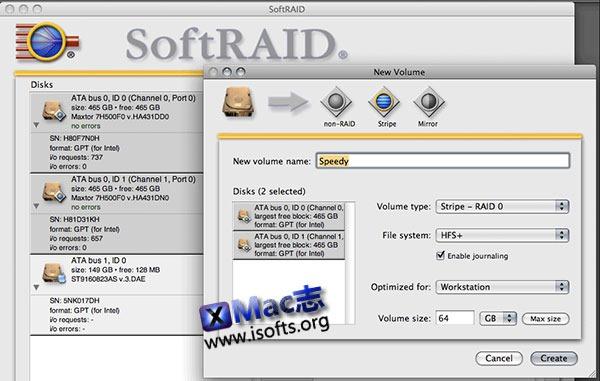 [Mac] 磁盘阵列RAID管理工具 : SoftRAID
