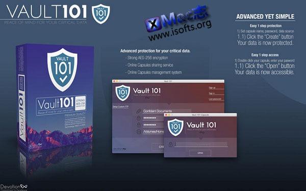 [Mac] 文件/文件夹密码保护工具 : Vault 101
