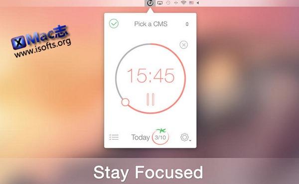 [Mac]番茄时间管理软件 : Pomodoro Time Pro