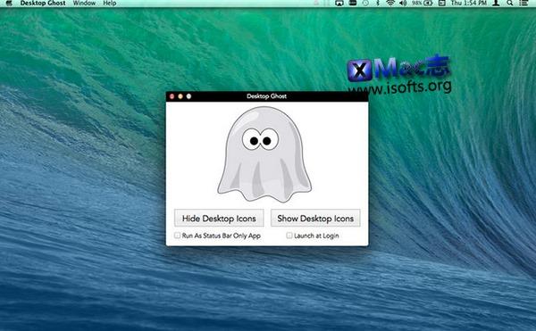 [Mac]一键隐藏桌面图标文件 : Desktop Ghost