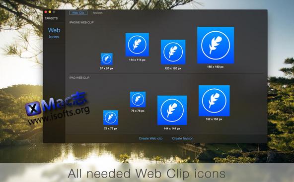 [Mac]将图片转换为适用于网页的图标 :  IconFly