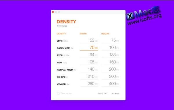 [Mac]像素计算器 : Density