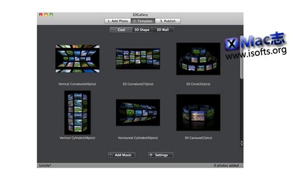 [Mac] 3D 相册制作工具 : 3DGallery