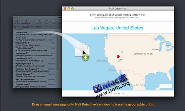 [Mac]邮件发出地探测工具 : Mail Detective