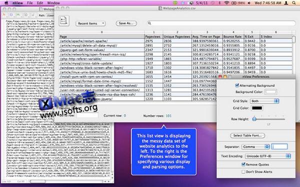 [Mac]文本表格查看工具 : nView