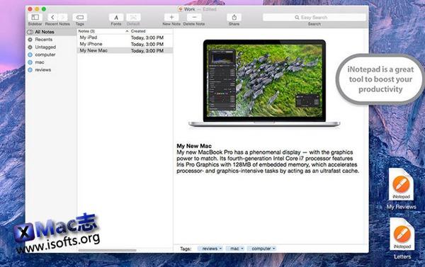 [Mac]简单方便的笔记软件 : iNotepad