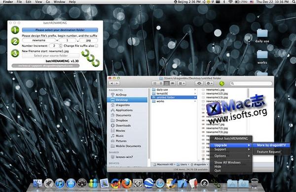 [Mac]文件批量重命名工具 : batchRENAMEING