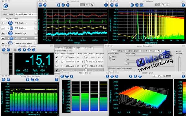 [Mac]音频测量与频谱分析:SignalScope Pro