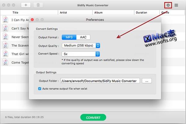 [Mac] Spotify音乐转换工具 :Sidify Music Converter