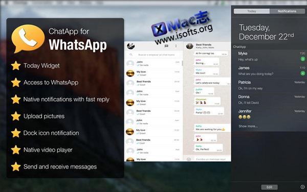 [Mac] WhatsApp桌面客户端 : ChatApp for WhatsApp