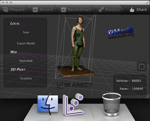 [Mac]强大的3D模型扫描软件 : Skanect