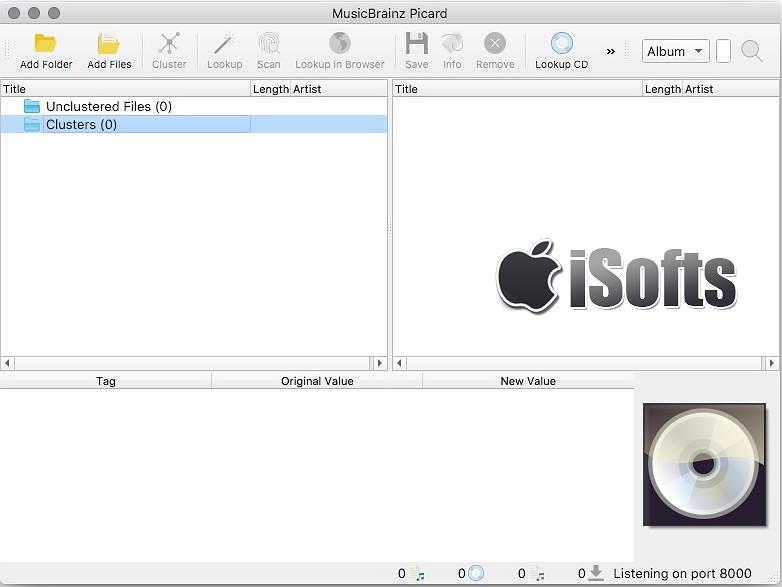 [Mac] MusicBrainz Picard : 音乐音频文件ID3标签编辑整理工具