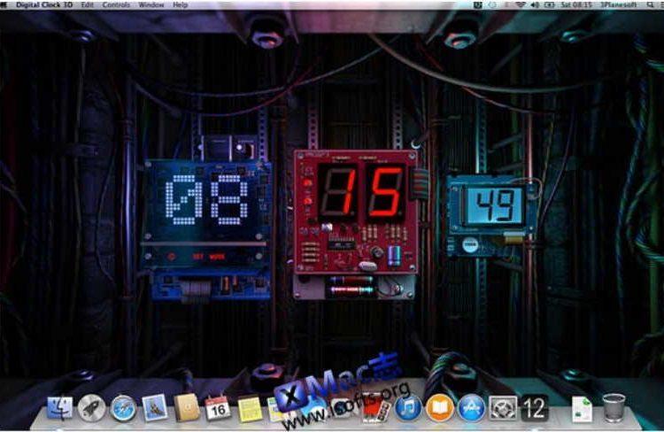 [Mac]3D数字时钟动态桌面 : Digital Clock 3D