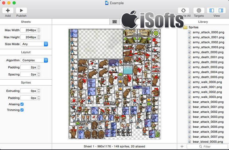 [Mac] Zwoptex :制作纹理png图和plist文件的精灵表制作工具