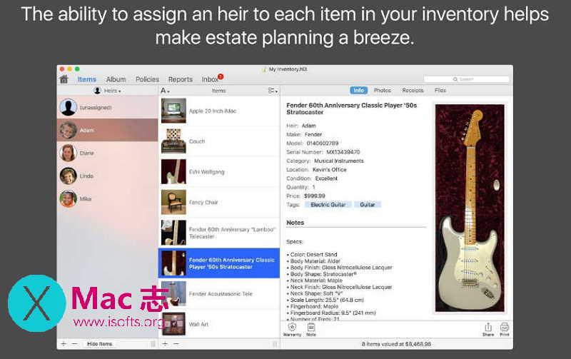 [Mac]方便的固定资产管理工具 : Home Inventory