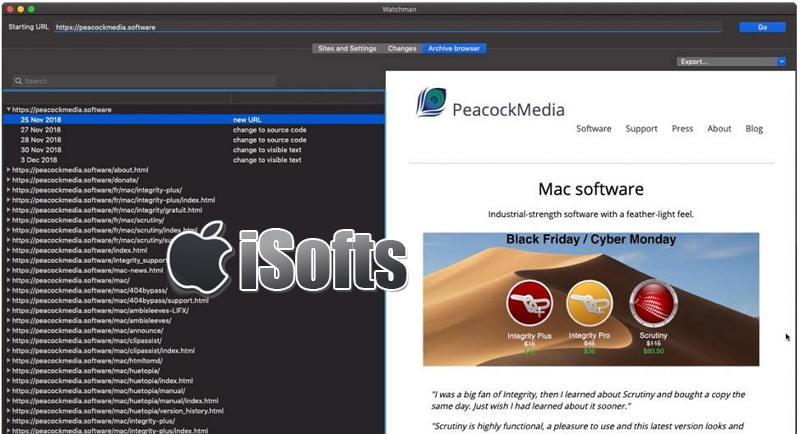 [Mac] Watchman : 网站网页变动监控及存档软件