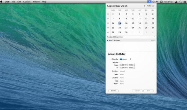 [Mac]菜单栏日历记事工具 : popCalendar